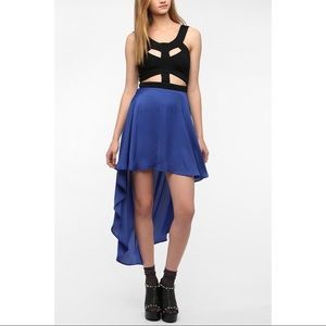 Reverse high low dress with cutouts
